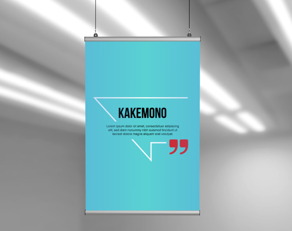 kakemono communication suspendue