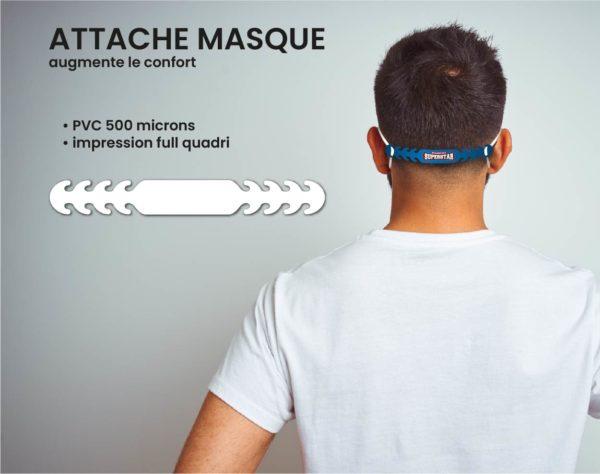 attache masque personnalisable
