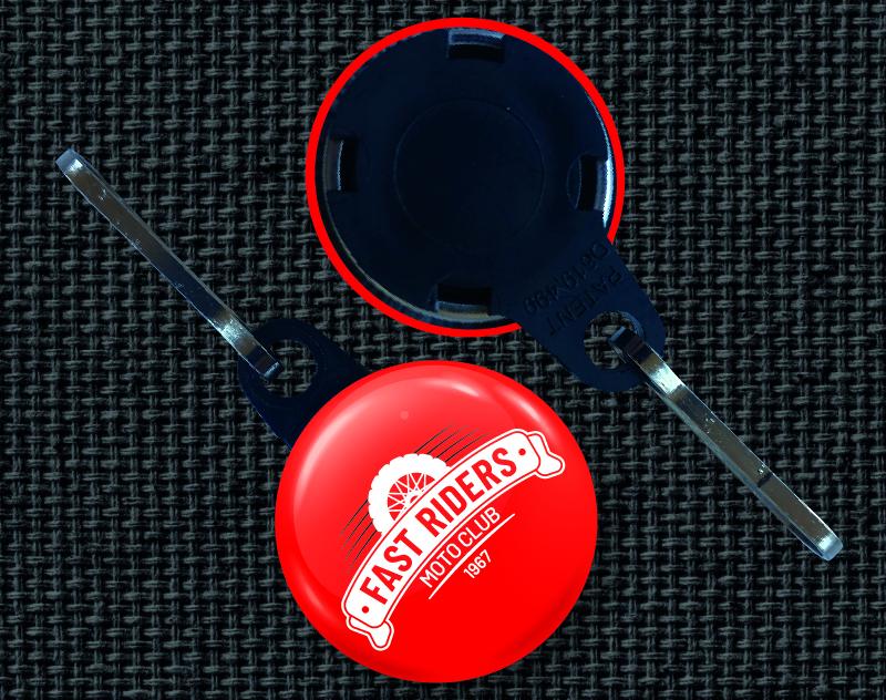 badge zip personnalisation vêtement